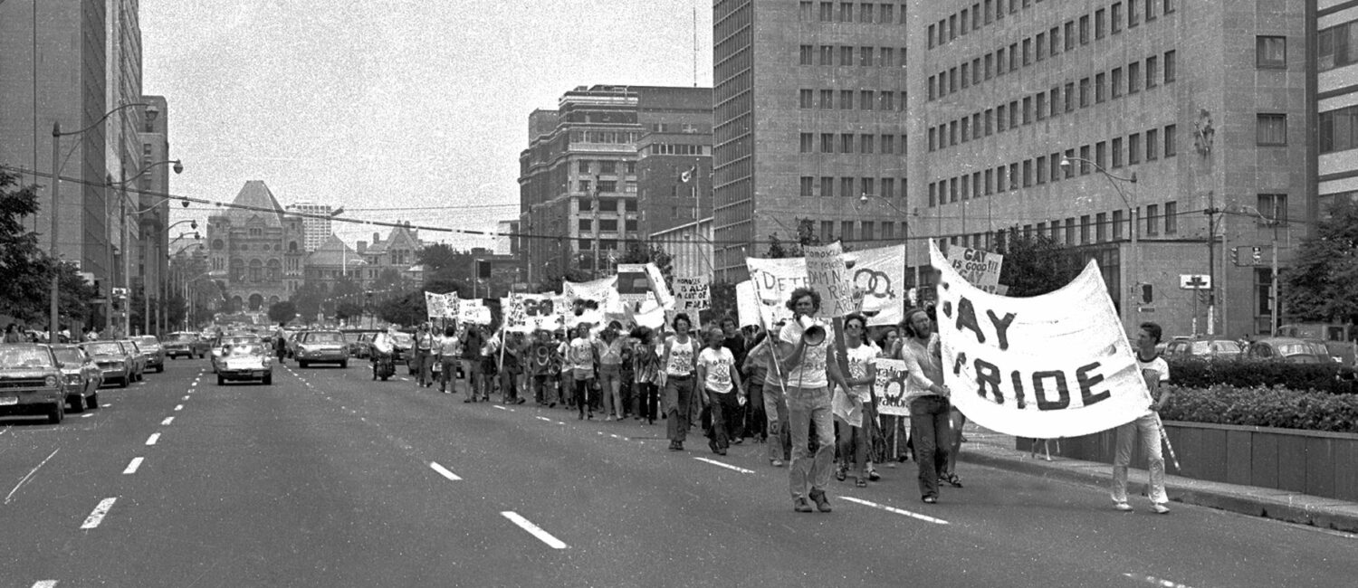 A pride march in toronto from 1972