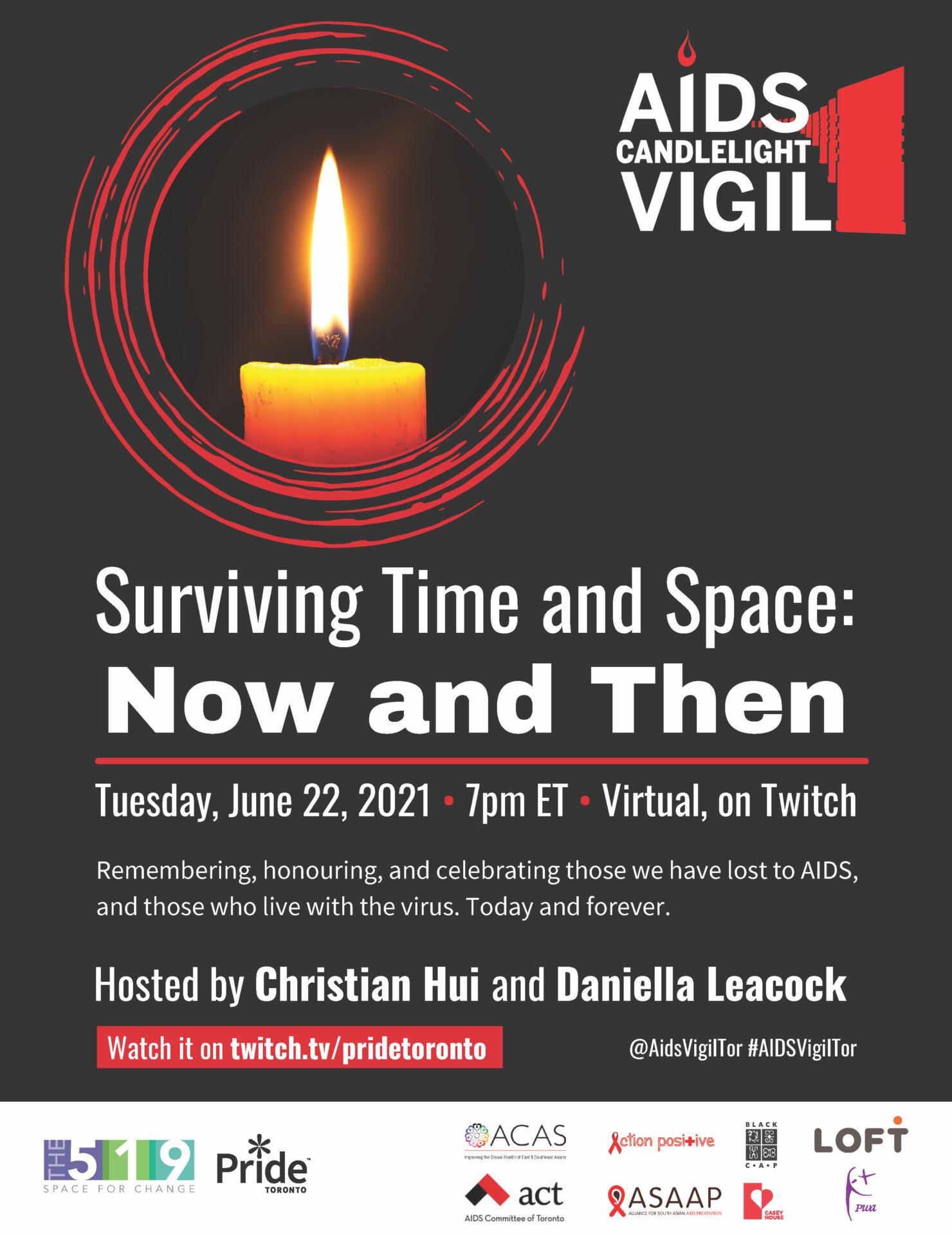 Toronto AIDS Vigil poster