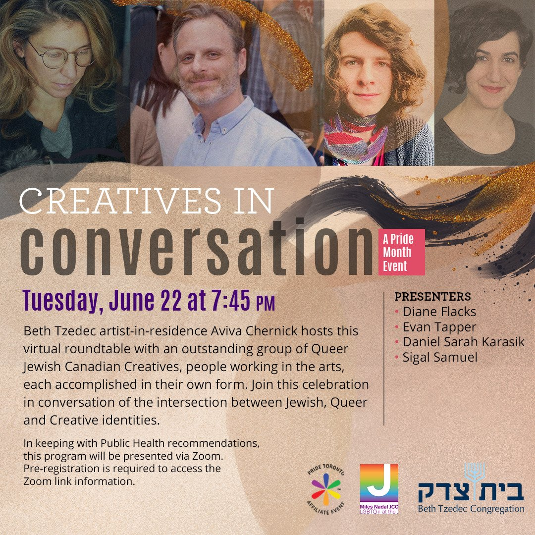 Creatives in Conversation Event Poster