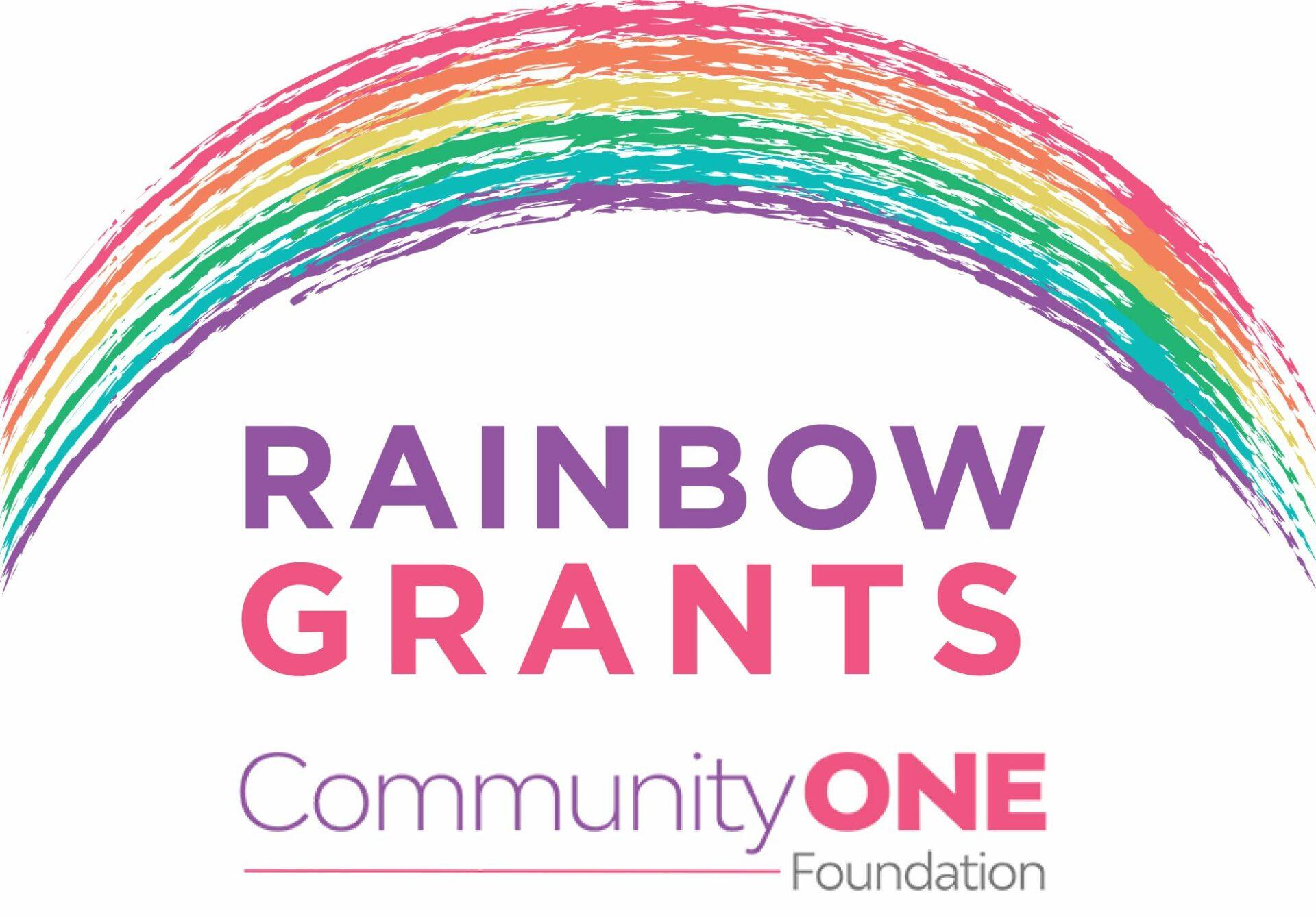 Text: Rainbow Grants, Community One Foundation