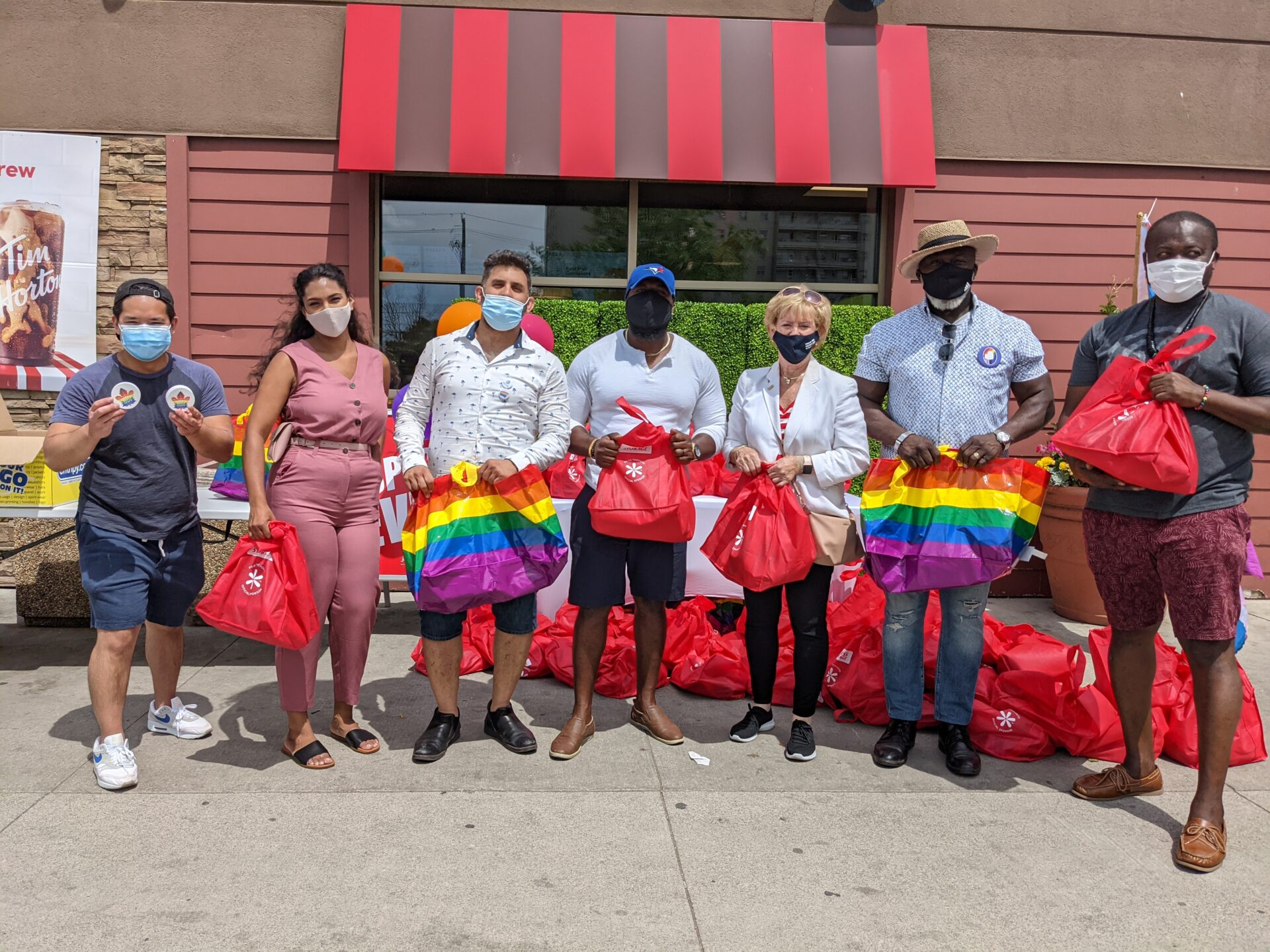 Grant (co-chair), Ayesha (Councillor Perruzza's Staff), Nader (JF Property Manager), O'Neil Johnson (Marketing Manager), Hon. MP Sgro, JF Mall Staff, Sherwin